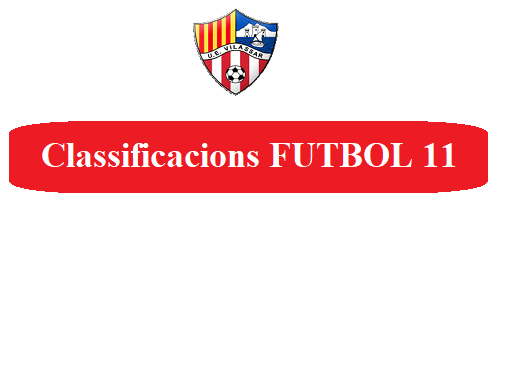 Classificacions Futbol 11
